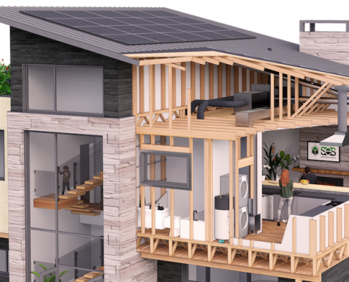 SES Home Insulation Rendering