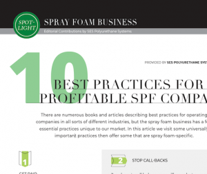 10 Best Practices For A Profitable SPF Company